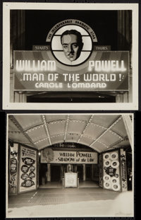"Man of the World Lot (Paramount, 1931). Theater Photos (2) (8"" X 10"" and 7.75"" X 9.5""). Romance..."