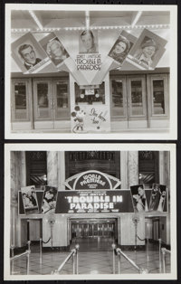 """Trouble in Paradise (Paramount, 1932). Theater Photos (2) (8"""" X 10""""). Comedy. ... (Total: 2 Items)"""