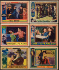 """Movie Posters:Western, The Fighting Deputy Lot (Spectrum, 1937). Lobby Cards (6) (11"""" X14""""). Western.. ... (Total: 6 Items)"""
