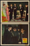 "Movie Posters:Mystery, The Strange Case of Doctor Rx Lot (Universal, 1942). Lobby Cards(2) (11"" X 14""). Mystery.. ... (Total: 2 Items)"