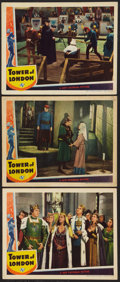 "Movie Posters:Horror, Tower of London (Universal, 1939). Lobby Cards (3) (11"" X 14""). Horror.. ..."