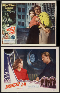 """Rocketship X-M Lot (Lippert, 1950). Lobby Cards (2) (11"""" X 14""""). Science Fiction. ... (Total: 2 Items)"""