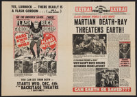 """Mars Attacks the World / Planet Outlaws Combo (Magus, R-1974). Herald (11.5"""" X 16""""). Science Fiction"""