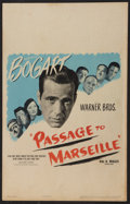 "Movie Posters:War, Passage to Marseille (Warner Brothers, 1944). Window Card (14"" X22""). War.. ..."