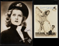 """Movie Posters:Miscellaneous, Lilian Harvey (UFA, Early 1930s). Autographed Photos (2) (6.5"""" X 9"""" and 5"""" X 7""""). Miscellaneous.. ... (Total: 2 Items)"""