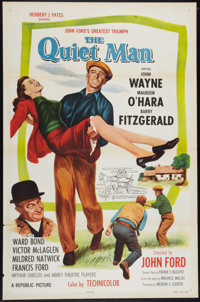 "The Quiet Man (Republic, R-1957). One Sheet (27"" X 41""). Drama"