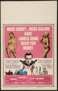 "Movie Posters:James Bond, Goldfinger/Dr. No Combo (United Artists, R-1966). Window Card (14""X 22""). James Bond.. ..."