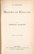 Books:Children's Books, Charles Dickens. A Child's History of England. ...