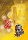 Paintings, FRANK KELLY FREAS (American, 1922-2005). Master of the Stars, paperback cover. Mixed media on board. 16.5 x 12 in.. Sign... (Total: 2 Items)