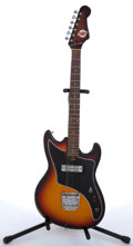 Musical Instruments:Electric Guitars, 1960's Teisco Del Rey Sunburst Electric Guitar #N/A....