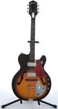 Musical Instruments:Electric Guitars, Vintage Harmony Sunburst Semi-Hollow Body Electric Guitar #515RL...