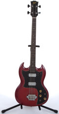 Musical Instruments:Bass Guitars, Lyle SG Copy Cherry Electric Bass Guitar # N/A....