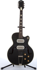 Musical Instruments:Electric Guitars, Late 1950's Silvertone Jazzbox 1385-H-64 Black Archtop Electric Guitar #899H64. ...