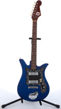 Musical Instruments:Electric Guitars, 1960's Teisco Del Rey ET-200 Blue Electric Guitar # 719367....