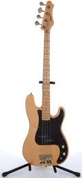 Musical Instruments:Bass Guitars, 1960's Harmony H65N Natural Electric Bass Guitar # N/A....