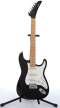 Musical Instruments:Electric Guitars, 1989 Epiphone By Gibson Strat Copy Black Electric Guitar # 9008509....