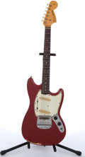 Musical Instruments:Electric Guitars, 1965 Fender Mustang American Red Electric Guitar #113155....