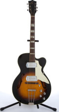 Musical Instruments:Electric Guitars, 1960s Kay Swingmaster Sunburst Archtop Electric Guitar #N/A....