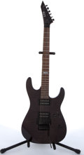Musical Instruments:Electric Guitars, 1996 ESP LTD M-100FM Black Flame Top Electric Guitar #IR0519961....