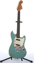 Musical Instruments:Electric Guitars, 1966 Fender Mustang American Blue Electric Guitar #111630....