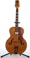 Musical Instruments:Electric Guitars, 1940's Gretsch Natural Archtop Acoustic Guitar # N/A....