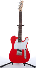 Musical Instruments:Electric Guitars, Fender Telecaster Copy Red Electric Guitar # N/A...