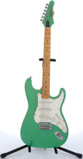 Musical Instruments:Electric Guitars, 1996 Epiphone By Gibson Strat Copy Green Electric Guitar#K6081091....