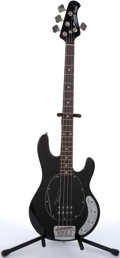 Musical Instruments:Bass Guitars, Sterling By Musicman Ray 34 Black Electric Bass Guitar #SR13178....