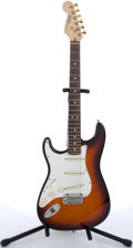 Musical Instruments:Electric Guitars, 1993 Fender Lefty USA Stratocaster Sunburst Solid Body ElectricGuitar #N3142344...
