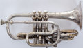 Musical Instruments:Horns & Wind Instruments, 1903 Lyon & Healy Duplex Own Make Cornet #3255....