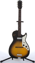Musical Instruments:Electric Guitars, 1960's Airline 8396/7206 Sunburst Electric Guitar # N/A...