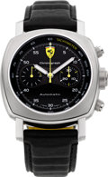 Timepieces:Wristwatch, Panerai F 6656 Ferrari Limited Edition Automatic Chronograph F B756/800. ...