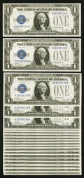 Small Size:Silver Certificates, Fr. 1601 $1 1928A Silver Certificates. Twenty Examples. Choice Crisp Uncirculated.. ... (Total: 20 notes)