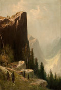 Fine Art - Painting, American:Modern  (1900 1949)  , FREDERICK FERDINAND SCHAFER (American, 1839-1927). Lookout Rock,Yosemite Valley. Oil on canvas . 30 x 20-1/4 inches (76...