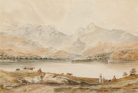 ANTHONY VANDYKE COPLEY FIELDING (British, 1787-1855) Loch Awe, Scotland Watercolor and pencil on pap