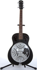 Musical Instruments:Resonator Guitars, Fender FR-50 Black Resonator Guitar #KL01121017....