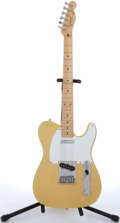 Musical Instruments:Electric Guitars, 1987 Fender Telecaster Yellow Electric Guitar #E708420....