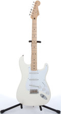 Musical Instruments:Electric Guitars, 2000's Fender Stratocaster Jimmie Vaughn White Electric Guitar#MSZ9316910....