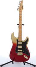 Musical Instruments:Electric Guitars, Lotus Strat Copy Red & Gold Electric Guitar # N/A....