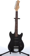 Musical Instruments:Electric Guitars, 1980's Harmony H-80T Black Electric Guitar # N/A....