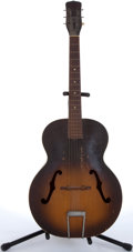 Musical Instruments:Acoustic Guitars, Vintage Silvertone By Harmony H-700 Sunburst Archtop Acoustic Guitar # 4874H700....