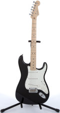 Musical Instruments:Electric Guitars, 2006 Fender American Stratocaster Black Electric Guitar#Z6113021....