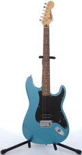Musical Instruments:Electric Guitars, 2004 Squier By Fender Bullet Blue Electric Guitar #IC040531393....