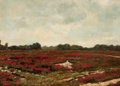 American:Impressionism, AMERICAN SCHOOL (20th Century). Poppy Fields. Oil on canvaslaid on panel. 20 x 28 inches (50.8 x 71.1 cm). ...