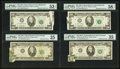 Error Notes:Error Group Lots, Foldover/Butterfly $20 Federal Reserve Note Errors.. ... (Total: 5notes)