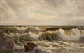 Fine Art - Painting, American:Contemporary   (1950 to present)  , E.J. CAPLIN (American, 20th Century). Rolling Surf. Oil oncanvas . 22 x 35 inches (55.9 x 88.9 cm). Signed lower right:...