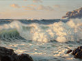 American:Marine, JOSEF M. ARENTZ (American, 1903-1969). Rolling Surf. Oil onboard. 18 x 24 inches (45.7 x 61.0 cm). Signed lower right: ...