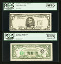 Error Notes:Error Group Lots, Fr. 1976-J $5 1981 Federal Reserve Note. PCGS Choice About New58PPQ.. ... (Total: 2 notes)