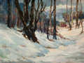 American:Modern, AMERICAN SCHOOL (20th Century). Winter Scene. Oil on canvasboard. 12 x 16 inches (30.5 x 40.6 cm). ...