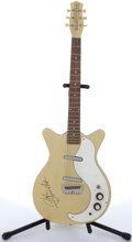 Musical Instruments:Electric Guitars, 2000's Danelectro Reissue Yellow Electric Guitar # N/A....